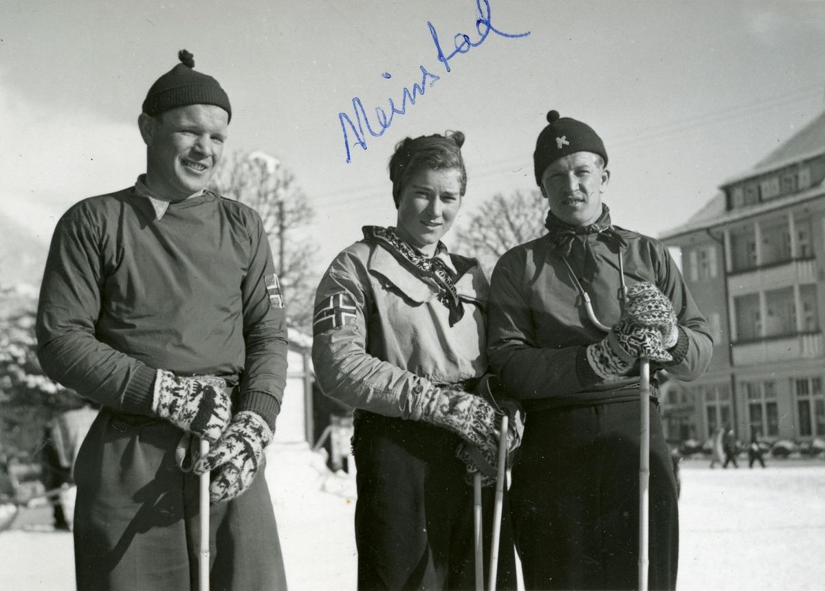 Members of the Norwegian skiing team at Garmisch