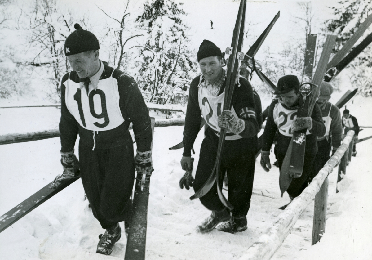 Norwegian skiers at Garmisch