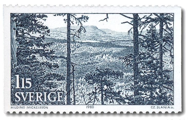Utsikt över berget Blaxås, Forsa.