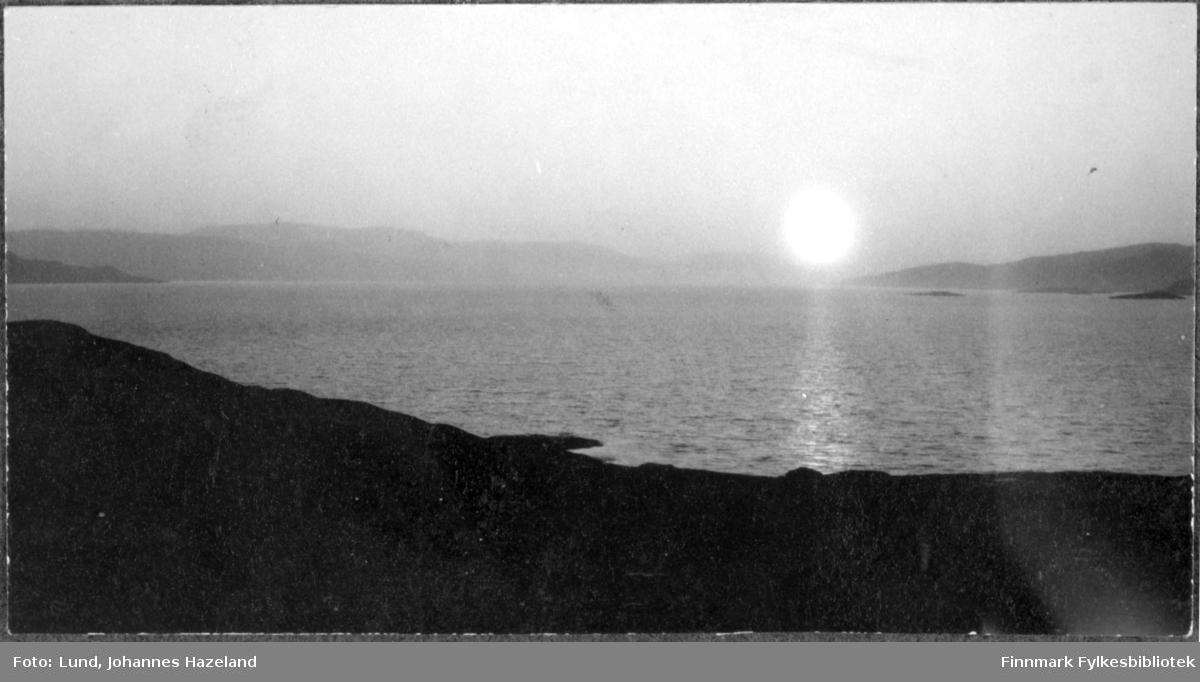 Sol over landskap