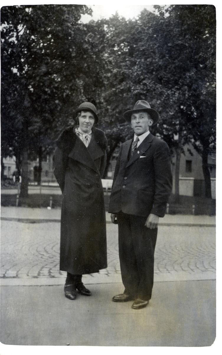 Prospektkort av Reidar og Ragnhild Dølven, 1936.