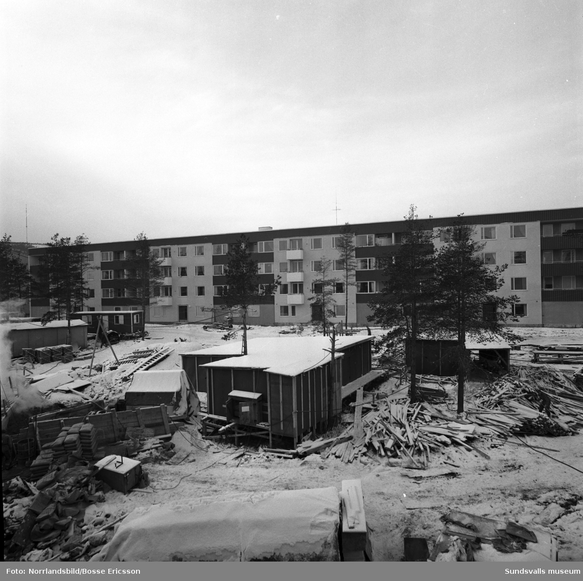 Exteriörbilder av nybyggt flerfamiljshus i kvarteret Metallen, Kubikenborg.