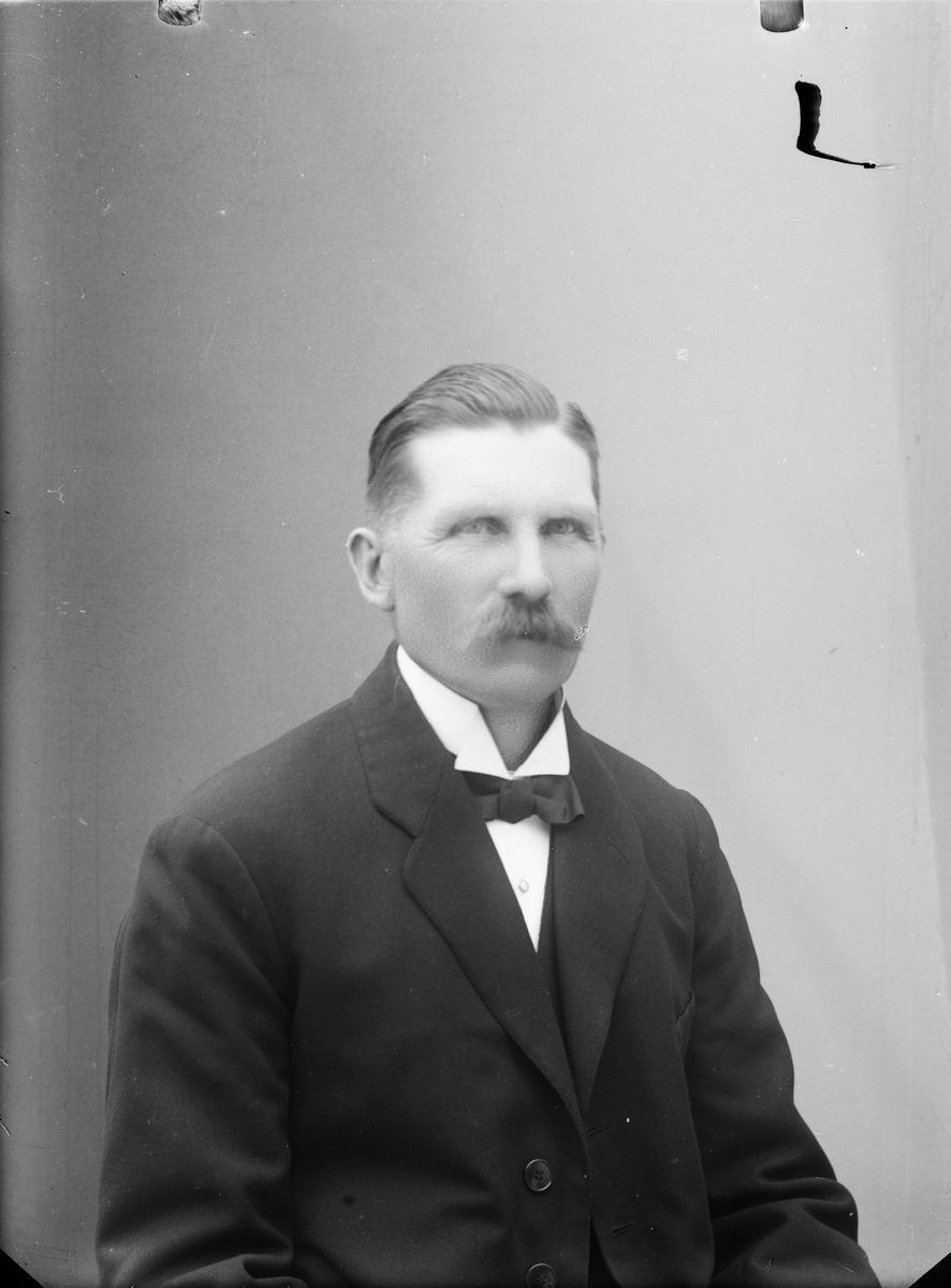 Ateljéporträtt - man, Alunda, Uppland