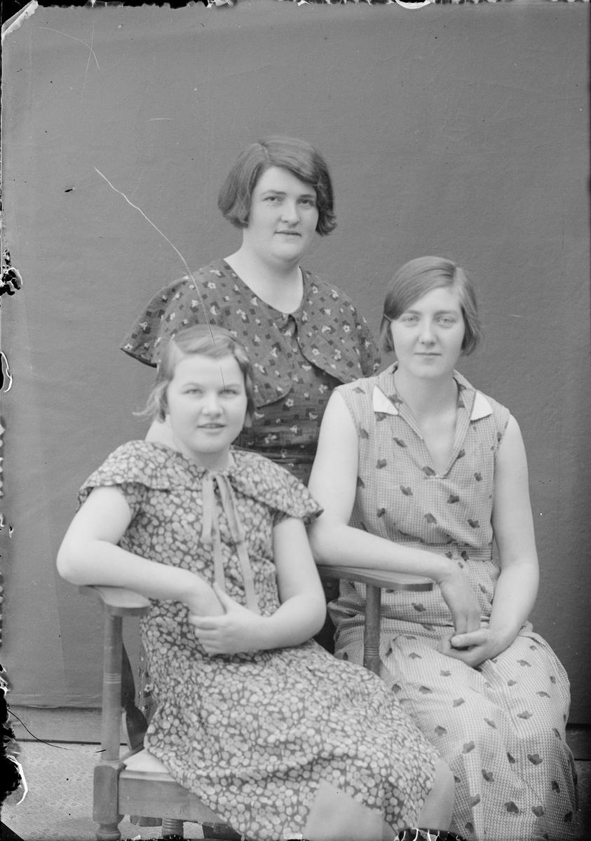 Ateljéporträtt - tre kvinnor, Alunda, Uppland