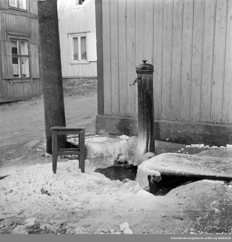 Enerhaugen. Johannesgt. 9.Vannpost.Januar 1958