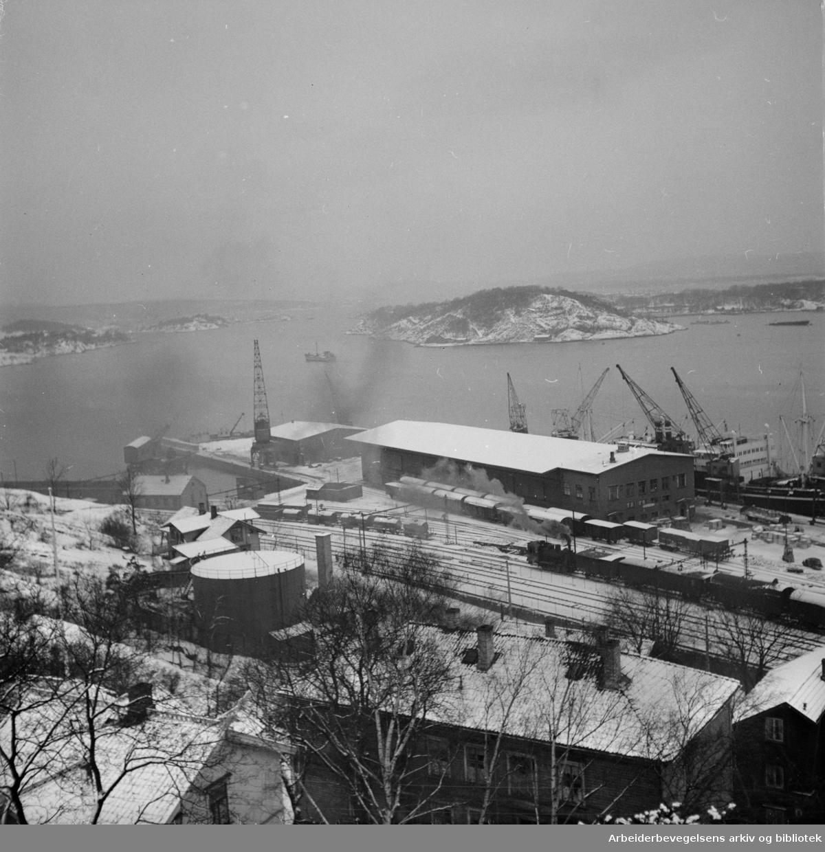 Oslo Havn: Grønlia.Januar 1952