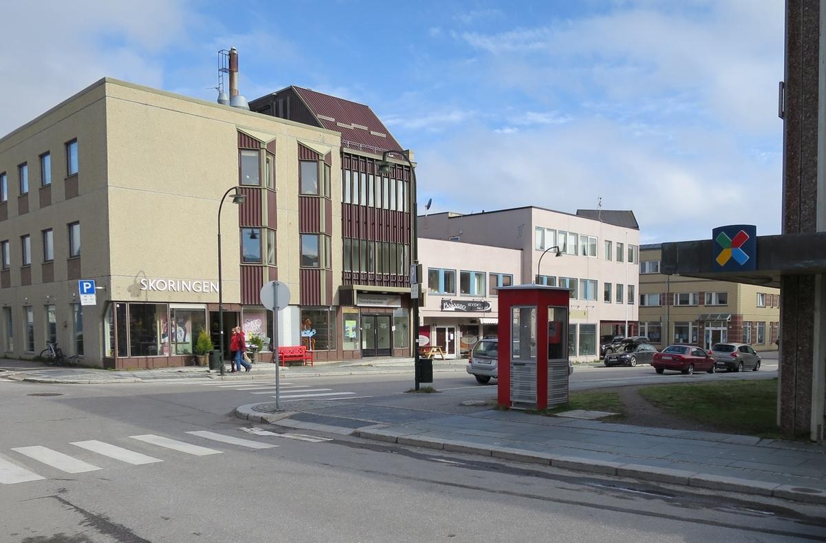 Denne telefonkiosken står ved telehuset i Vadsø, og er en av de 100 vernede telefonkioskene i Norge. De røde telefonkioskene ble laget av hovedverkstedet til Telenor (Telegrafverket, Televerket). Målene er så å si uforandret.  Vi har dessverre ikke hatt kapasitet til å gjøre grundige mål av hver enkelt kiosk som er vernet.  Blant annet er vekten og høyden på døra endret fra tegningene til hovedverkstedet fra 1933. Målene fra 1933 var: Høyde 2500 mm + sokkel på ca 70 mm Grunnflate 1000x1000 mm. Vekt 850 kg. Mange av oss har minner knyttet til den lille røde bygningen. Historien om telefonkiosken er på mange måter historien om oss.  Derfor ble 100 av de røde telefonkioskene rundt om i landet vernet i 1997. Dette er en av dem.
