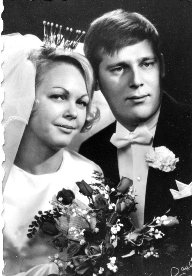 Bröllopsfoto. Gunnel Espina och Leif.