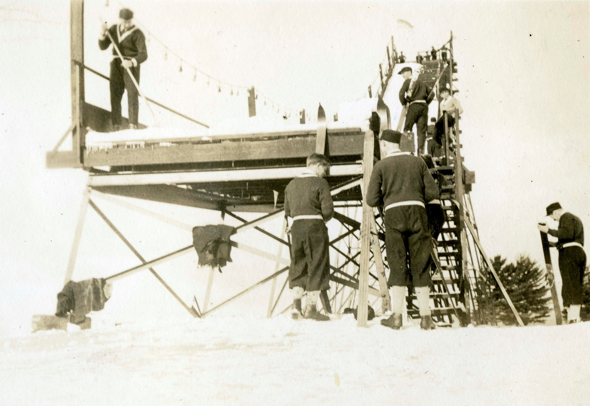 From the ski jump competition at Lake Placid