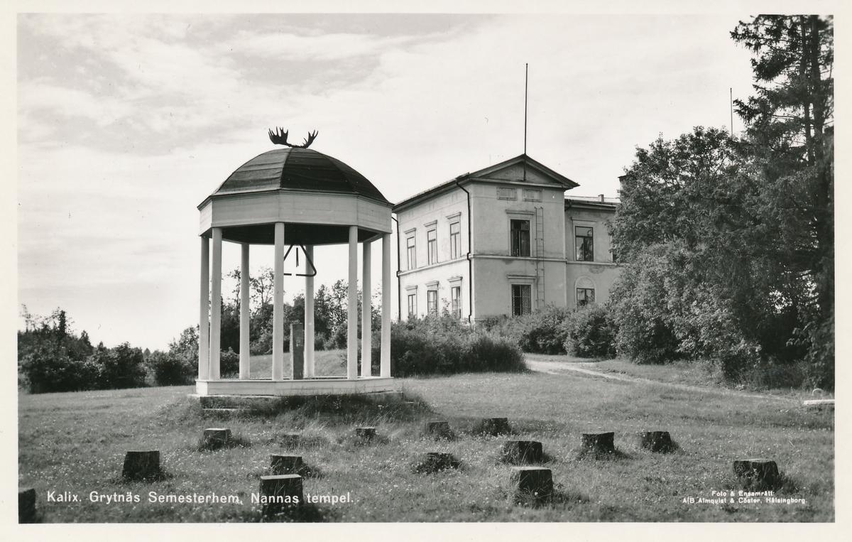 Vykort föreställande Grytnäs gästgiverigård som 1/4 1838 blev Kalix första postkontor.