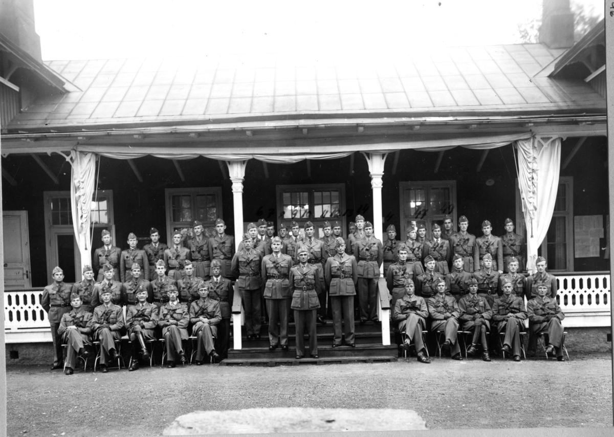Artilleriets Skjutskola, Skillingaryd, 1945, Befälskåren.