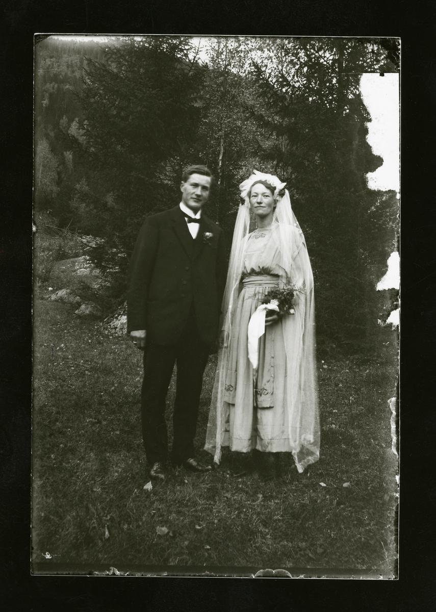 Brudefoto av Martin og Marie Leite.