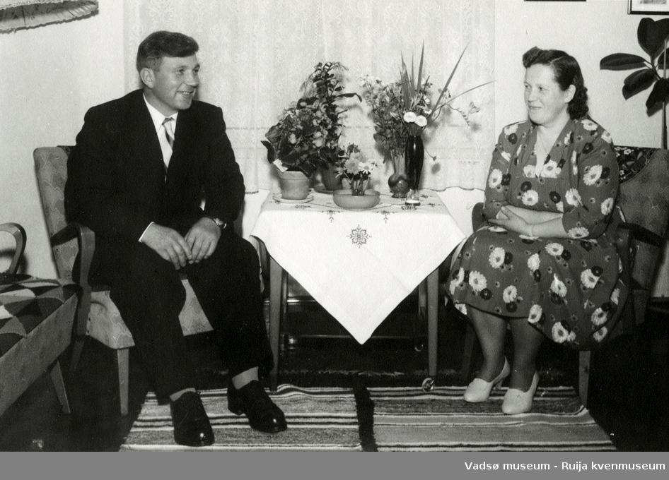 Ekteparet Karl og Jenny Gærnæ, 1961.
