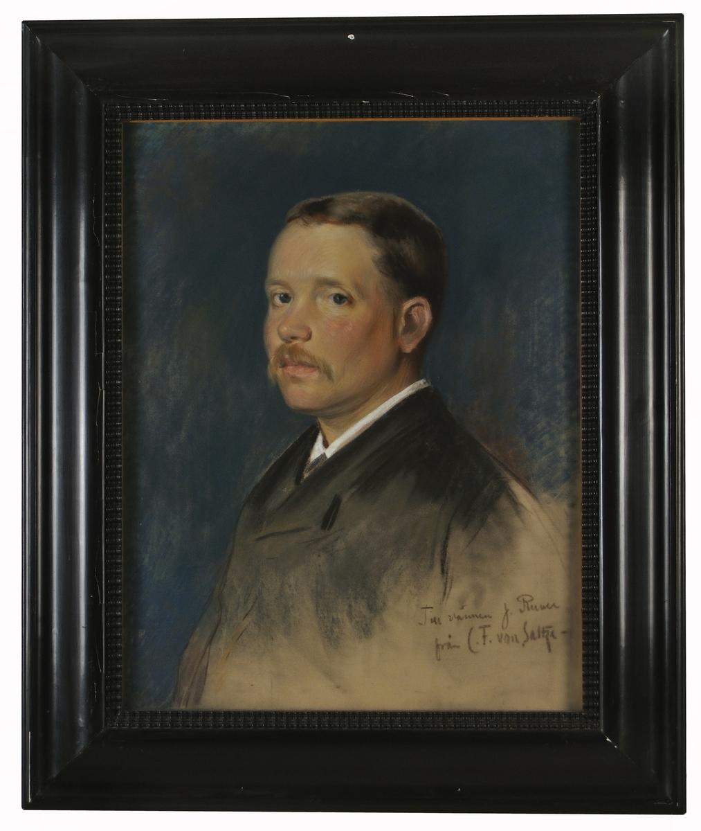 Porträtt av John Runer utfört av Carl Fredrik von Saltza.
