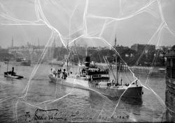 """Nordenfjeldske D/Selsk foto av 3 båter kopi """"Håkon Jarl"""""""
