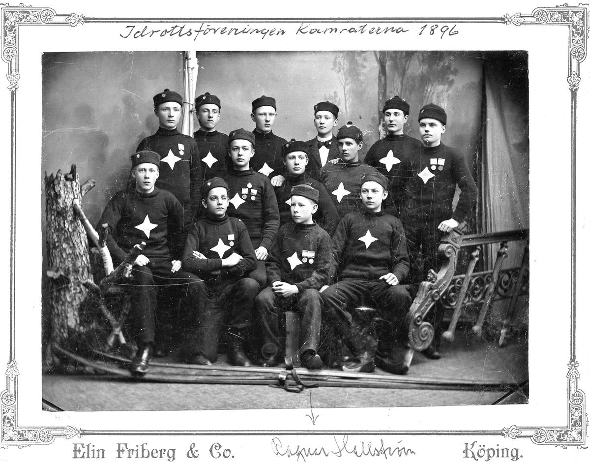 IFK Köping 1896. Ateljéfoto. Ivar Hallström finns med.
