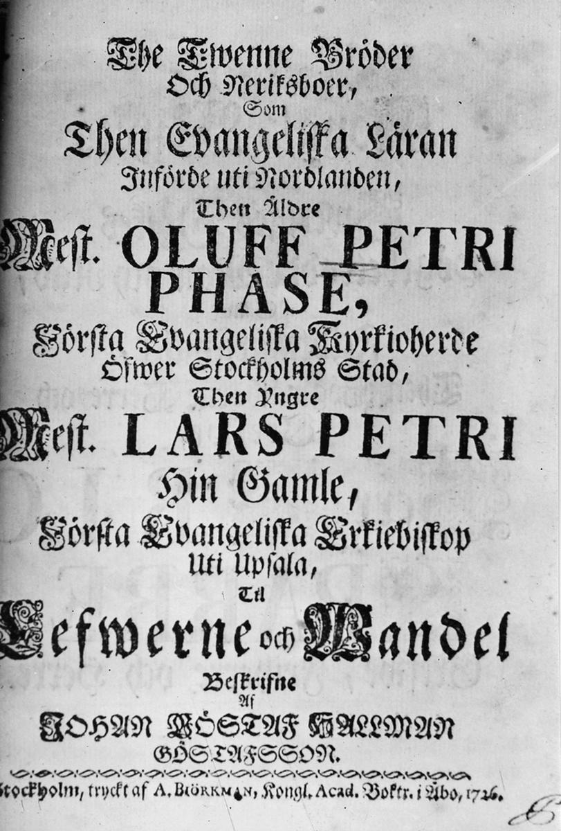 """Skrift av J.G Hallman 1727, Sunda Sellhets regler""""."""