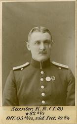 Porträtt av Knut Ragnar Stanler, intendent vid Intendenturkå