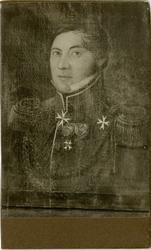 Porträtt av Fredrik Teodor von Platen, officer vid Hälsinge