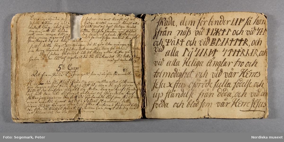 Svartkonstbok Nordiska museets arkiv, Magi Inv. nr 271602