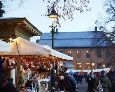Julemarked på Norsk Folkemuseum i Oslo
