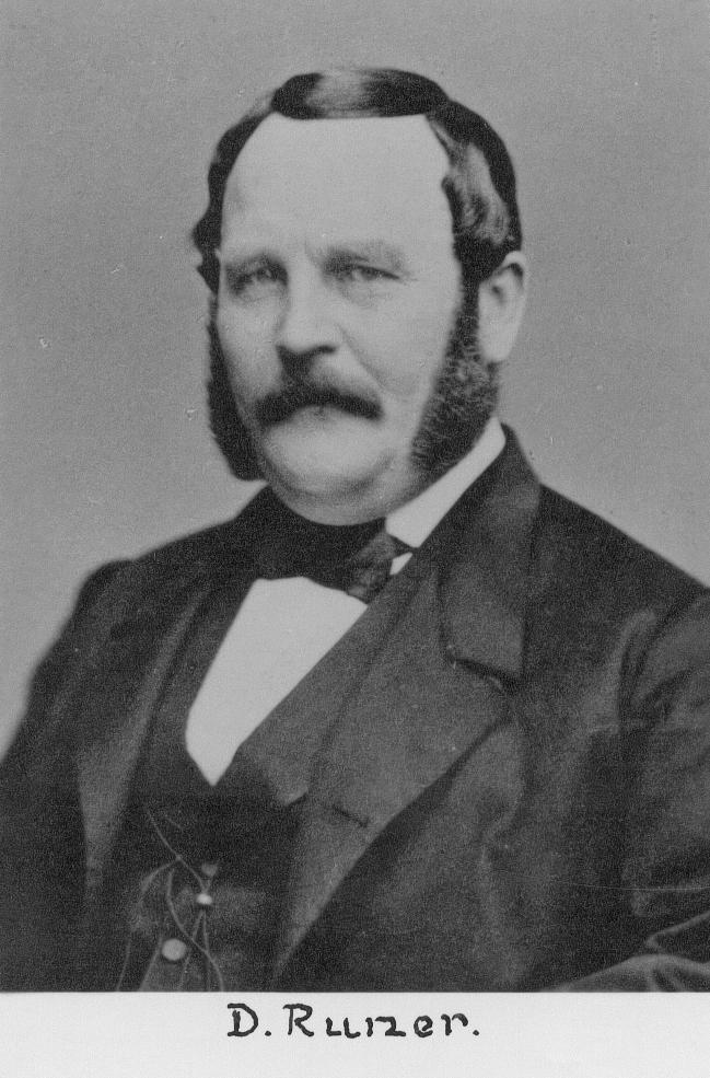 Ingenjör och industriman David Runer (1813-1888).