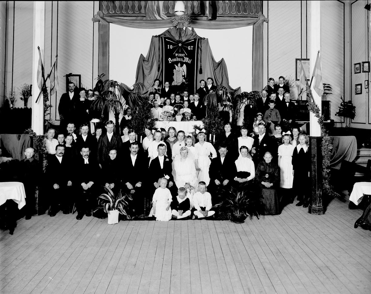 I.O.G.T , Bomhus Väl Bröllop i det egna ordenshuset  Källgren
