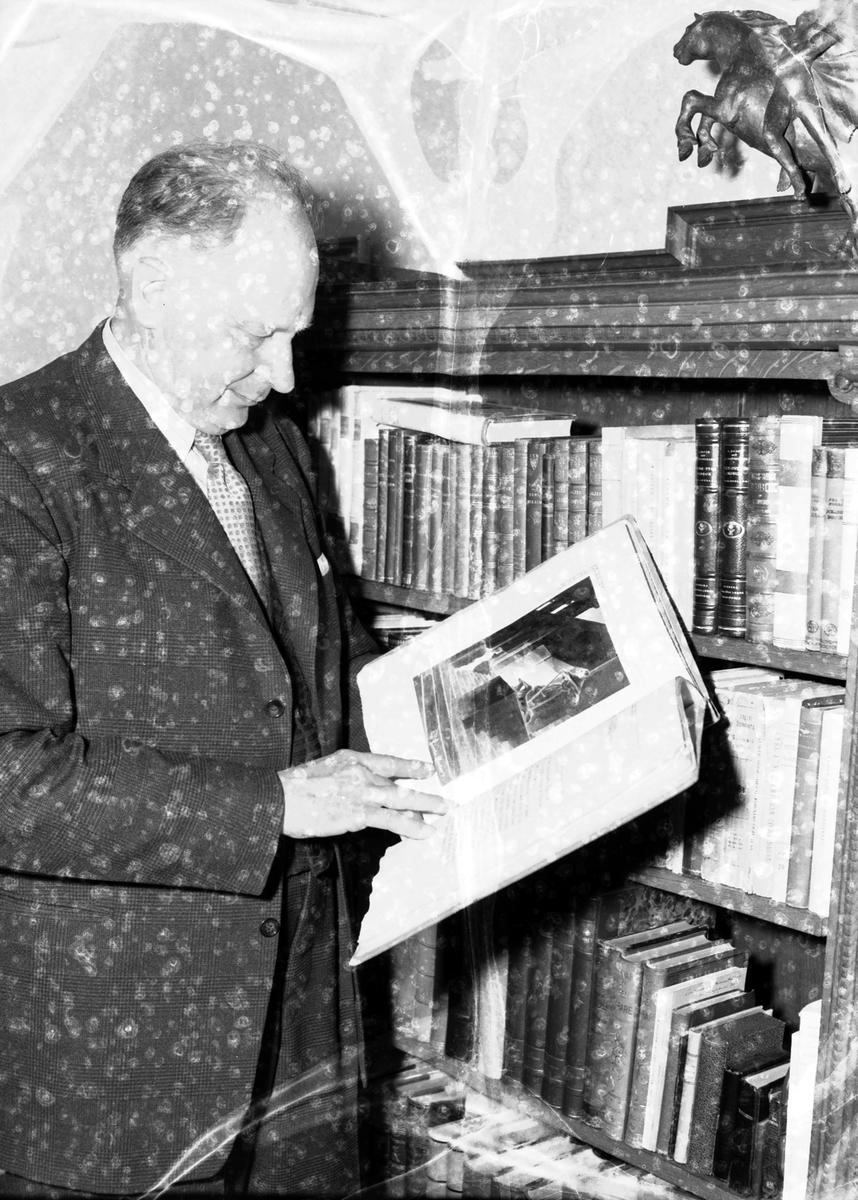 """Herr H. Hedberg Norra Rådmansgatan 30, Gävle Reportage för """"Vårt Hem"""". 30 april 1951."""