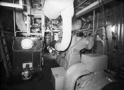 Den 27 januari 1954. Gävle Varv. Båten M/S Lombardia.