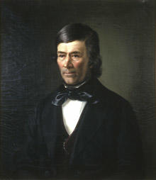 Portrett av eidsvollsmann Hans Haslum. (Foto/Photo)