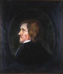 Portrett av Asgaut O. Regelstad  Mann med brunt halvlangt hår, hvit skjortekrage, mørk kledning  Innskrevet i oval, lysere enn resten av bakgrunnen (Foto/Photo)
