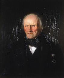 Portrett av Sørbrøden (Sørbrøn). mørk klesdrakt, en orden festet på brystet. (Foto/Photo)