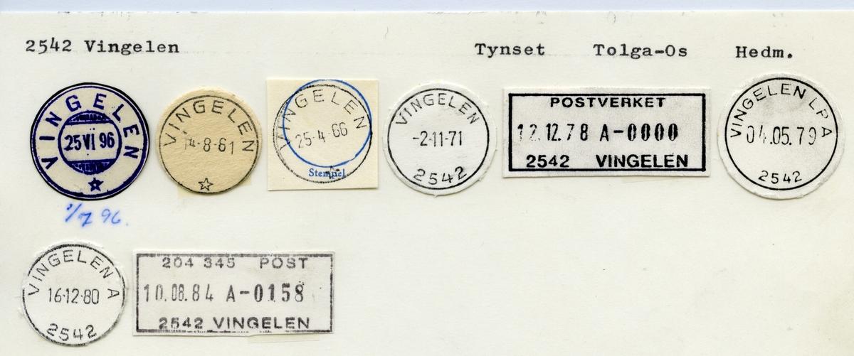 Stempelkatalog  2542 Vingelen, Tolga kommune, Hedmark