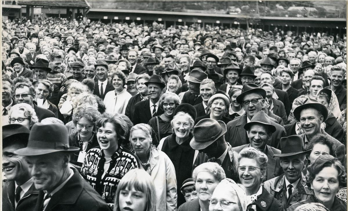 Publikum under opningsprogrammet.