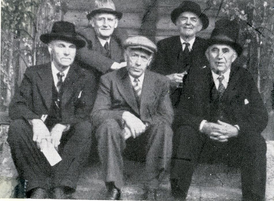 Lavrans Rui, Olav Mæland, Karsten Baardseth, Andres Hauge og Torkjell Haugerud.