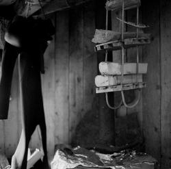 The ideal state (Drying wood and wetsuits) [Fotografi]