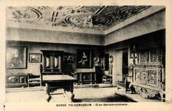 Postkort. Møbler og gjenstand i barokkstil. Utstilling NF.