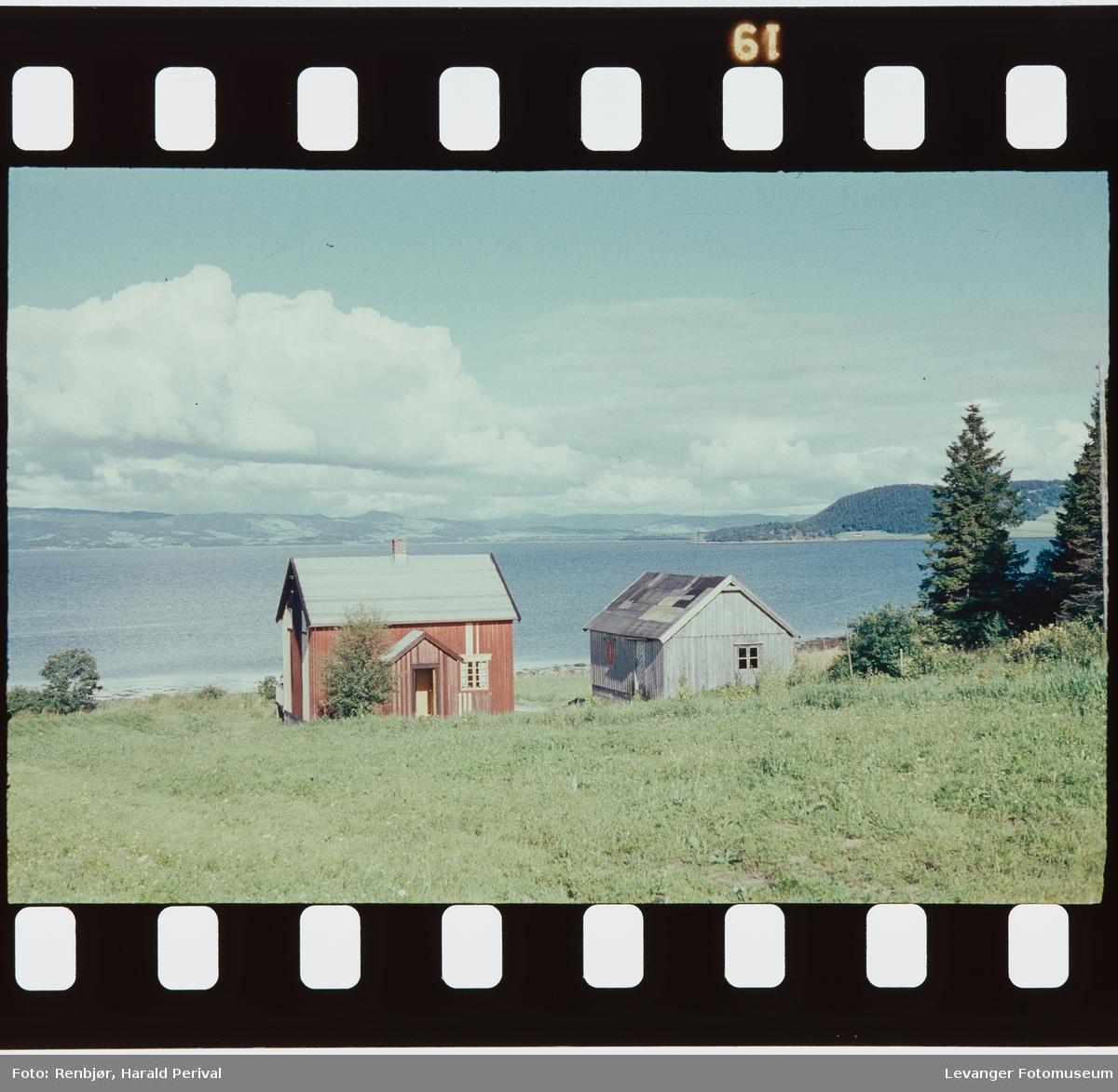 Småbruk ved fjorden utenfor Levanger.