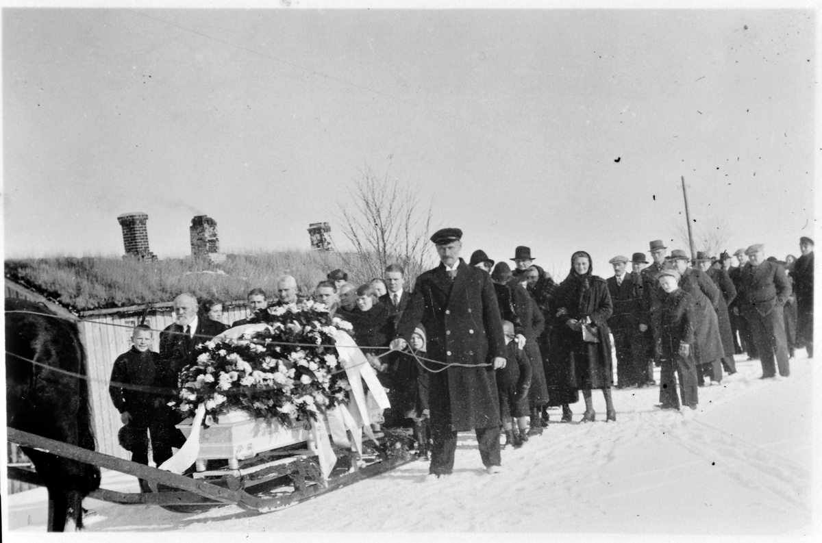 Begravelsen etter Kristine Haarberg