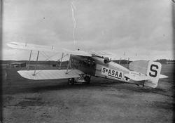 Civilt ambulansflygplan Bréguet XIV med märkning S-ASAA står