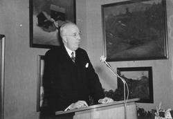 Riksantikvarie Sigurd Curman höll högtidstalet vid invigning