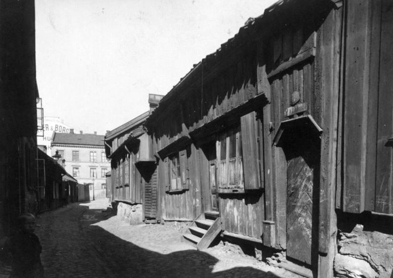 Gammel trebebyggelse på Grønland (Foto/Photo)