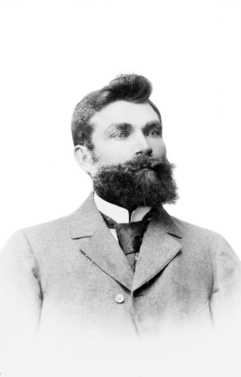 Stationsinspektör Albin Ekström.