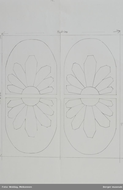 Blomst i oval