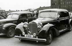 Fra fredsdagene i 1945. Vidkun Quislings pansrede Mercedes-B