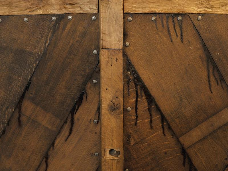 Detalj av trebåten Vaaghals, planker og nagler. (Foto/Photo)