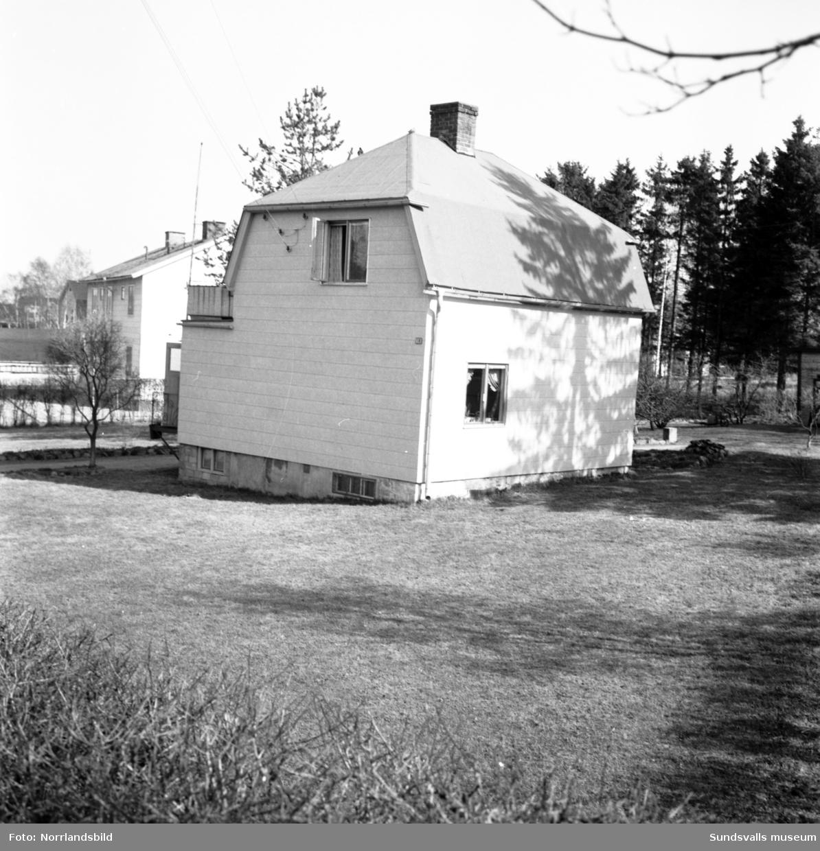 Siri Linnea Bylunds hus på Medborgargatan 18 i västra Skönsberg. Huset revs 1966 för inför bygget av bostadsområdet vid Riddargatan.
