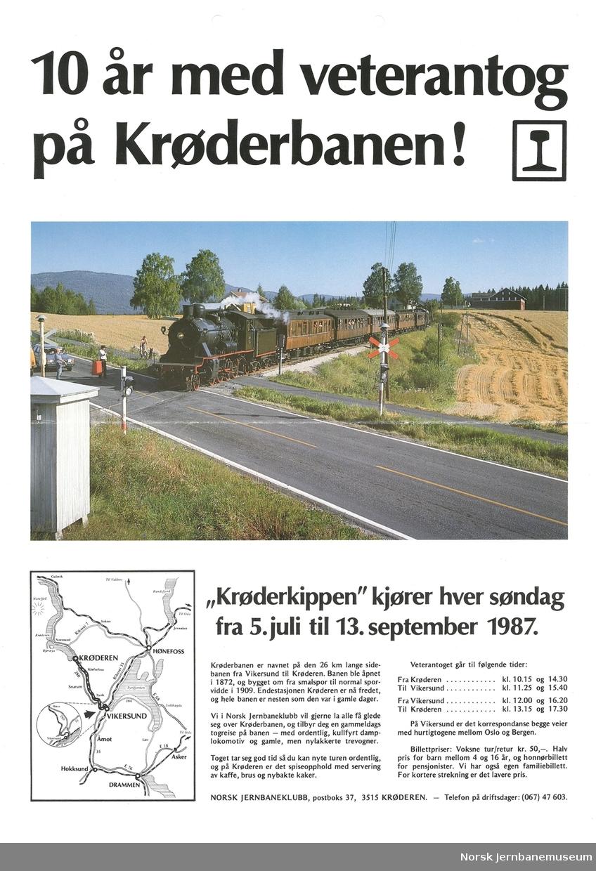 Oppslag: 10 år med veterantog på Krøderbanen!