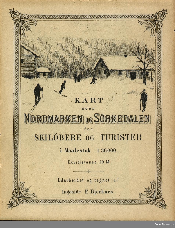 kart over sørkedalen Kart over Nordmarken og Sørkedalen for skiløbere og turister  kart over sørkedalen