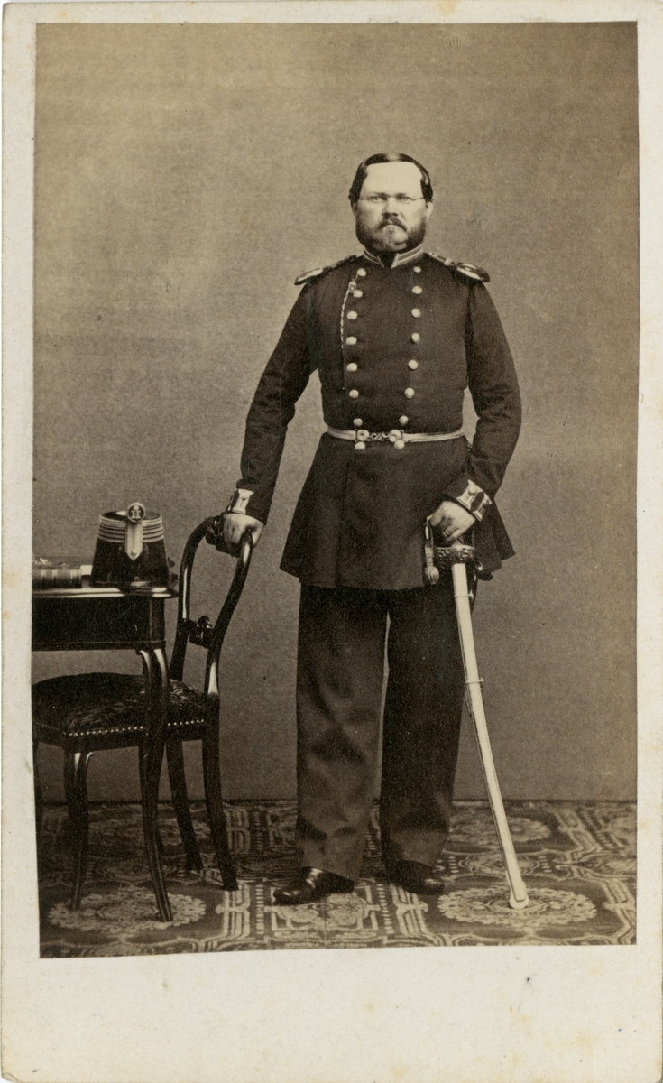 Porträtt av Carl Emil Ferdinand Åberg, officer vid Upplands regemente I 8.